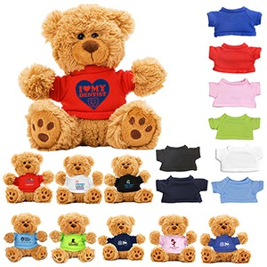 """Ted T. Bear"" 6"" Plush Teddy Bear w/ Choice of T-Shirt Color"