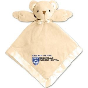 Baby Blanket w/ Attached Teddy Bear - Beige